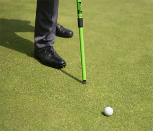 Close up of the Ball mark repair tool or pitch fork on the greenstick